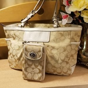 Coach Gallery Pleated Handbag & Matching Wallet